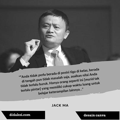 Pesan Jack Ma Dalam Mendidik Anak Didaksi